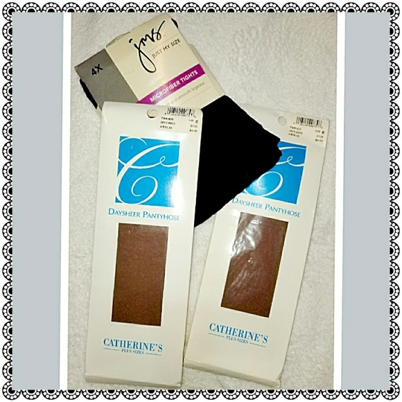 Catherines Accessories - {Catherine's} 3pc hosiery - nylons/tights, sz E 4X